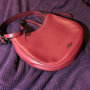 Gorgeous red leather Coach purse